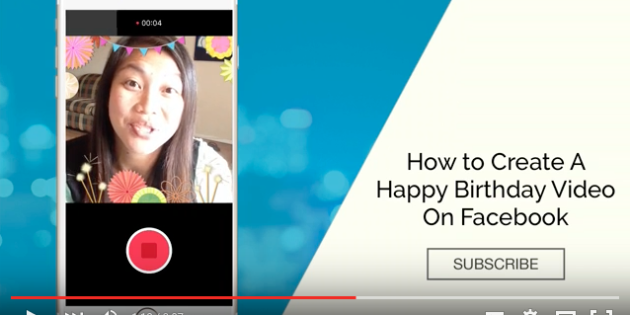 Facebook Birthday Video Cam