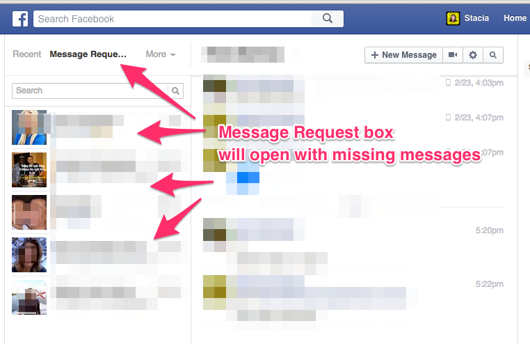 Message Request Box